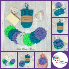 Cotton scrubbies and soap saver, soap pouch. Face wipes. Soap sock. £15.00