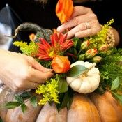 DIY Thanksgiving Tablescape from Holly Heider Chapple - a fabulous event should start with an awesome centerpiece.