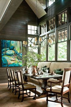 Natural Georgia Lake House Fantastic Floors - Naturally Inspired Georgia Lake House - Southernliving. Heart-pine floors milled
