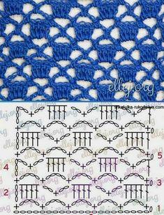 Синее платье крючком. Кружевное летнее платье с схемами | Шкатулка рукоделия. Сайт для рукодельниц. Hexagon Crochet Pattern, Crochet Scarf Diagram, Crochet Snowflake Pattern, Crochet Stitches Patterns, Crochet Chart, Crochet Basics, Crochet Motif, Knitting Patterns, Diy Crafts Knitting
