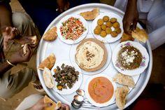 Sudanese food tray