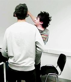mikey and calum fighting over lipstick << this will never be forgotten XD <<<< NOT EVER!!! Lol