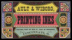 Ault & Printing Inks & Rollers via Sheaff's Ephemera. Vintage Advertising Signs, Vintage Advertisements, Vintage Ephemera, Vintage Art, Puppy Flowers, Vintage Business Cards, Printing Ink, Printable Paper, Paper Goods