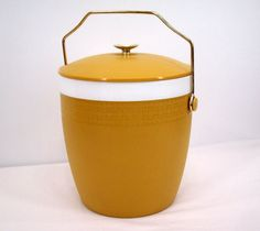 Thermador Ice Bucket Vintage 50's Mustard by SuzisCornerBoutique, $15.00