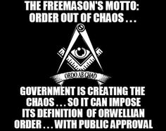 Ordo ab Chao or Order out of Chaos... - A motto of the Jesuit Masonic |White Genocide in South Africa #StopWhiteGenocideInSA