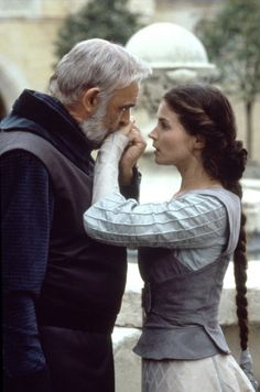 """Sean Connery with Julia Ormond in """"First Knight"""" (1995)"""