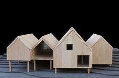Module Architecture, Colour Architecture, Education Architecture, Cluster House, Arch Model, Modern Exterior, Wood Construction, Building Design, Design Model