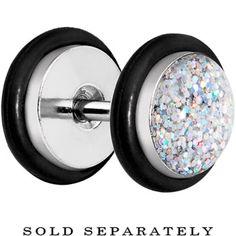 Aurora Super Glitter Luxe Cheater Plug | Body Candy Body Jewelry