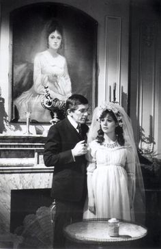 """Dark Shadows""-Barnabas Collins and Maggie Evans dressed as Josette"
