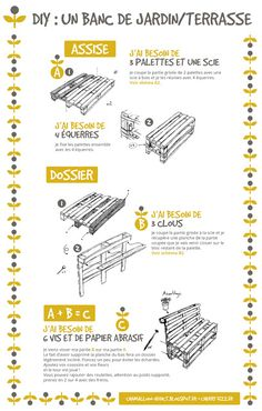 Pallet Garden Furniture, Diy Outdoor Furniture, Diy Furniture, Palette Furniture, Diy Table Saw, Pallet Seating, Palette Diy, Wooden Pallet Projects, House Plants Decor