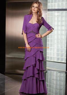Billig Abendkleider lila mit Bolero 2013