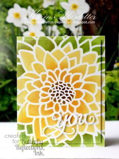 handmade card from Peppermint Patty's Papercraft ... gorgeous large flower ... stencil ...