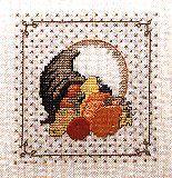 Autumn Cornucopia cross stitch freebie