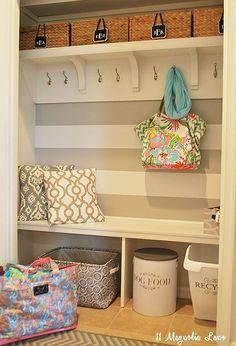 how we turned an unused hallway closet into a mudroom, closet, foyer, organizing, storage ideas