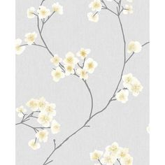 Graham & Brown Innocence Ft Gray/Ochre Vinyl Textured Floral Unpasted Paste The Wall Wallpaper Cream Wallpaper, Wallpaper Decor, Wallpaper Samples, Wallpaper Roll, Brown Wallpaper, Textured Wallpaper, Yellow And Grey Living Room Wallpaper, Mustard And Grey Wallpaper, Hallway Wallpaper
