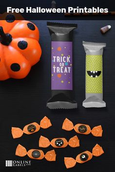 Throw a great Halloween bash with these fun Halloween party printables. Create custom candy bar wrappers, wine and beer labels, return address stickers, and so much more! Halloween Labels, Halloween Food For Party, Outdoor Halloween, Halloween Projects, Halloween Candy, Holidays Halloween, Halloween Kids, Halloween Themes, Halloween Decorations