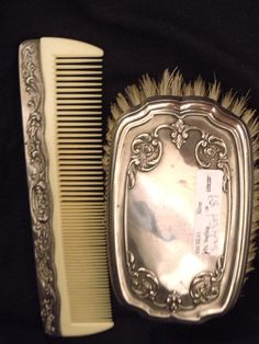 Sterling Silver Man's Brush with Comb by MySilverChest on Etsy