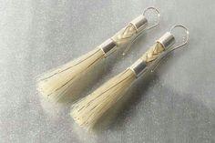 Silberschweif - Earrings from Horse Hair