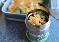Chicken and Broccoli Cheesy Pasta Bake A healthy and nutritious lunchbox filler for your child's food flask.    This recipe is also great for a fantastic mid-week family meal!