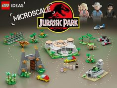 rex chasing after you won't be as scary if it's only 2 inches tall. That's what's going on in Sami Mustonen's mini Jurassic Park. The rendering of the models look so real you probably didn't think it was all digital Lego. Lego Jurassic Park, Jurassic Park Party, Lego Design, Jurrassic Park, Micro Lego, Cool Lego Creations, Lego Worlds, Lego News, Lego Projects