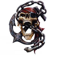 Not sure where this will land but thinking inside bicep Pirate Art, Pirate Life, Custom Pool Cues, Pirate Tattoo, Pirate Skull Tattoos, Fish Skeleton, Type Tattoo, Tattoo Project, Pirate Treasure