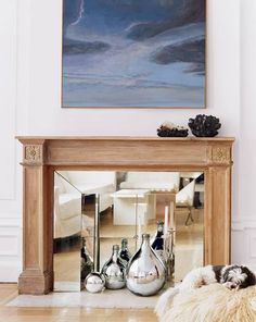 Domino: How To Turn An Unused Fireplace Into Art | Home Wedding Registry | Brides.com