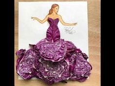 Purple cabbage couture What do you guys think? Sending love to each of you with… Purple cabbage couture What do you guys think? Sending love to each of you with this beautiful peace. Arte Fashion, 3d Fashion, Fashion Mode, Flower Fashion, Dress Fashion, Fashion Design Drawings, Fashion Sketches, Purple Cabbage, Illustration Mode