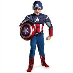Captain America Classic Muscle Child Costume Marvel Comics 7-8 Disguise 5017