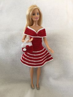 Crocheted Barbie Doll Dress snd Purse                                                                                                                                                                                 More