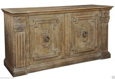 Sideboard Buffet Cabinet Console Table Hardwood Mango Distress Wash Finish  #NeoClassical #rt