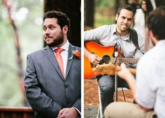 We love live music for a ceremony. | Let's Frolic Together Photography | See more of this Redwood #wedding here: http://www.mywedding.com/articles/nik-and-meaghens-woodsy-watsonville-ca-wedding-by-lets-frolic-together/
