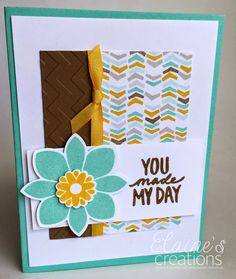 Elaine's Creations: Best Day Ever Card!