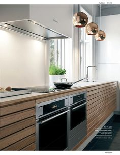 100% dansk design . svane køkkenet lookbook køkken/bad/opbevarin Neutral Kitchen, Minimal Kitchen, Minimalism, Kitchen Design, New Homes, Dining, Room, Kitchen Inspiration, Furniture