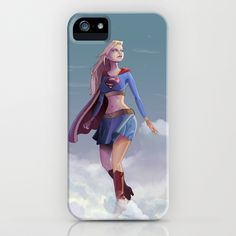 Supergirl iPhone & iPod Case by Edouard Relou - $35.00