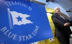 Mastermind: Australian mining entrepreneur Clive Palmer unveiled blueprints for Titanic II
