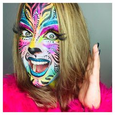 Paint by; Face Paint Makeup, Eye Makeup Art, Eye Art, Face Painting Designs, Diy Painting, Halloween Costumes For Teens, Halloween Make Up, Body Painting Festival, Make Your Own Costume