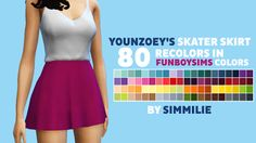My Sims 4 Blog: Skater Skirt in 80 Recolors by Simmilie