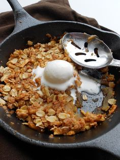 Culinary Couture: Spiced Mini Skillet Apple Crisp