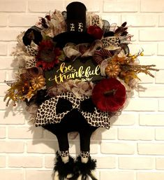 Your place to buy and sell all things handmade Turkey Wreath, Pumpkin Wreath, Wreath Fall, Thanksgiving Wreaths, Thanksgiving Decorations, Christmas Wreaths, Fall Halloween, Halloween Crafts, Halloween Ideas