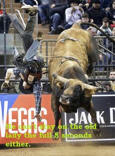 ory Markiss of Longmont, Colo., flies off the bull Tapout during the seventh annual Professional Bull Riders Invitational finals rodeo at Ma. Rodeo Cowboys, Real Cowboys, Cowgirl And Horse, Cowboy And Cowgirl, Vaquera Sexy, Rodeo Rider, Rodeo Events, Professional Bull Riders, Bucking Bulls
