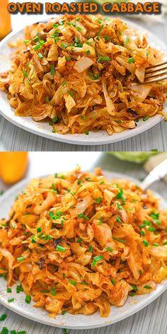 Tasty Vegetarian Recipes, Veggie Recipes, Easy Dinner Recipes, Indian Food Recipes, Healthy Dinner Recipes, Cooking Recipes, Baked Cabbage Recipes, Keto Recipes, Vegetarian Dinners