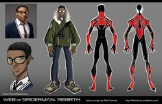 Spider-Man costume redesign By Rob Duenas