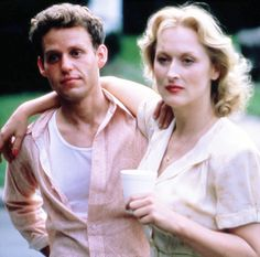 "With Peter MacNicol in ""Sophie's Choice"""
