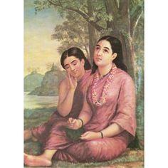 Shakuntala Pathralekhan (Ravi Varma Print)