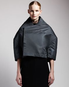 Boxy High-fashion Jacket by Rick Owens at Bergdorf Goodman.