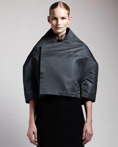 Boxy High-fashion Jacket by Rick Owens at Bergdorf Goodman.