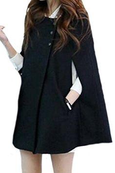 78d5868e02 Goocyber Women Beautiful Korean Cloak Plus Size Loose Trenchcoats Winter  Poncho
