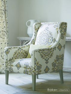 Armchair is Parvani. Curtains are Kamala from the Echo Indienne Collection by Baker Lifestyle at GP & J Baker.