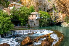 Blagaj on Buna, Bosnia jigsaw puzzle in Waterfalls puzzles on TheJigsawPuzzles.com