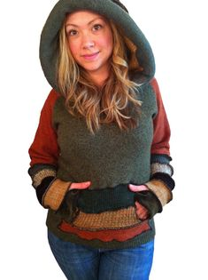 TUTORIAL elf hoodie upcycled sweater  by Hope Floats Upcycled on Etsy, $7.00